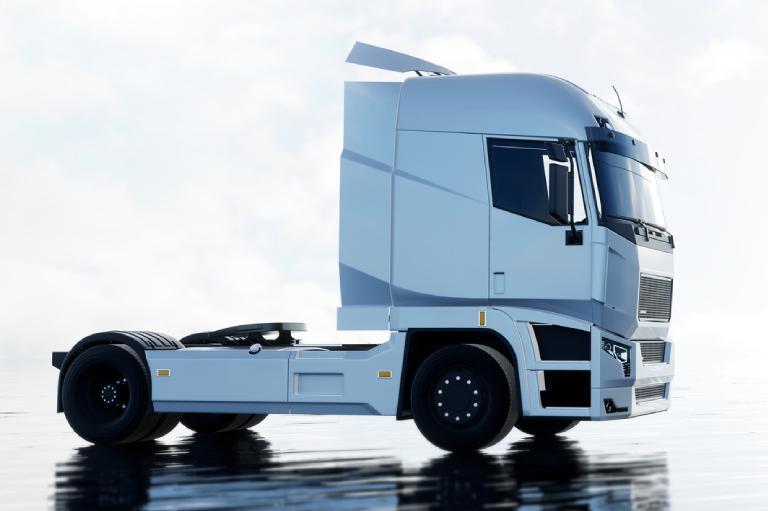Samochód ciężarowy beznaczepy